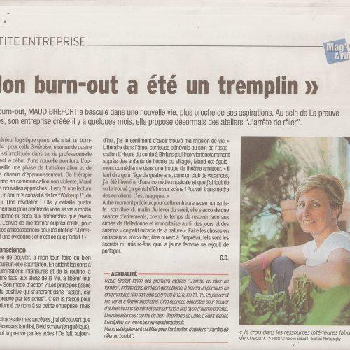 Article dans Mag'Ville et Village Grésivaudan, décembre 2019